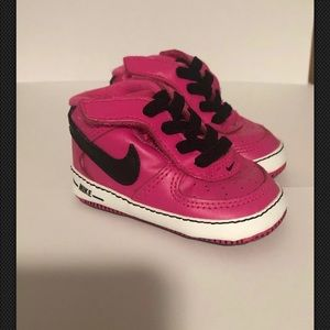 NIKE AIR FORCE TODDLERS INFANT CRIB SHOES PINK